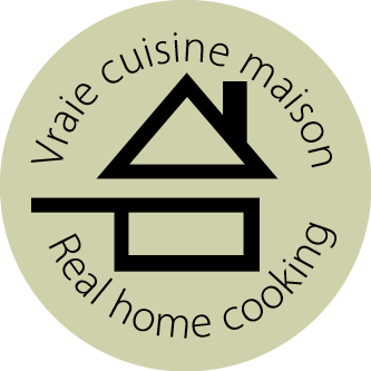 pictogram rond une vrai cuisine maison - Real home cooking